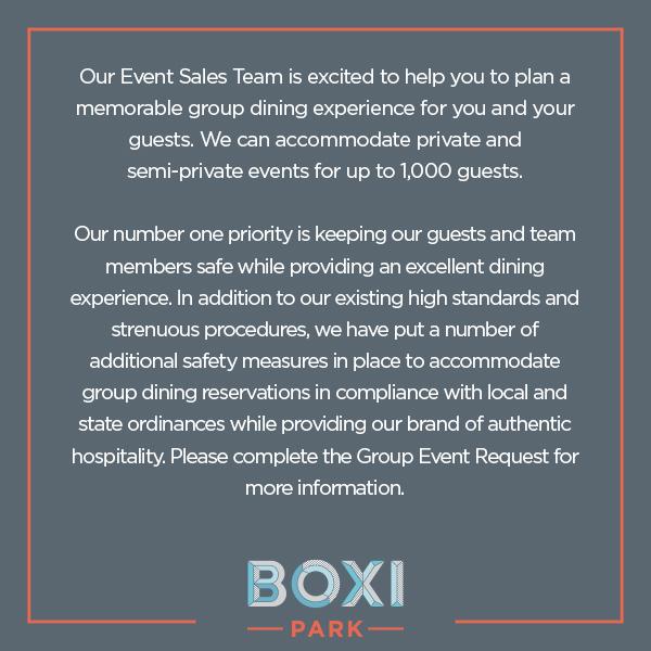 Boxi Park Group Dining